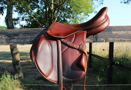 Saddle horse leather tack maintenance