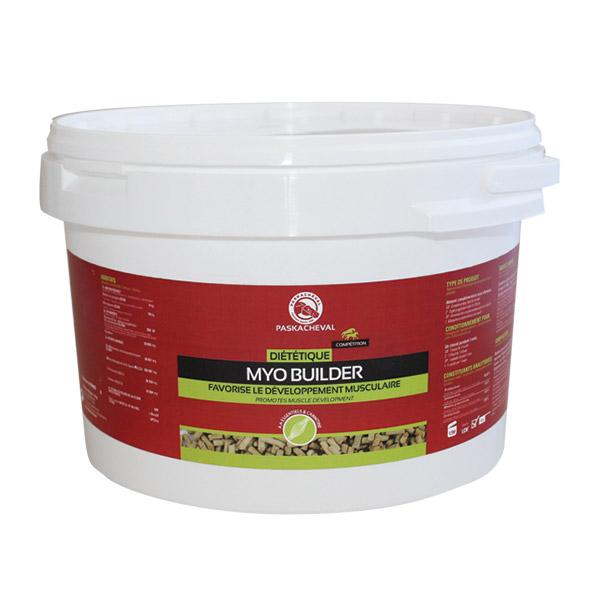 Produit Paskacheval Myo Builder nutrition pour developpement musculaire cheval