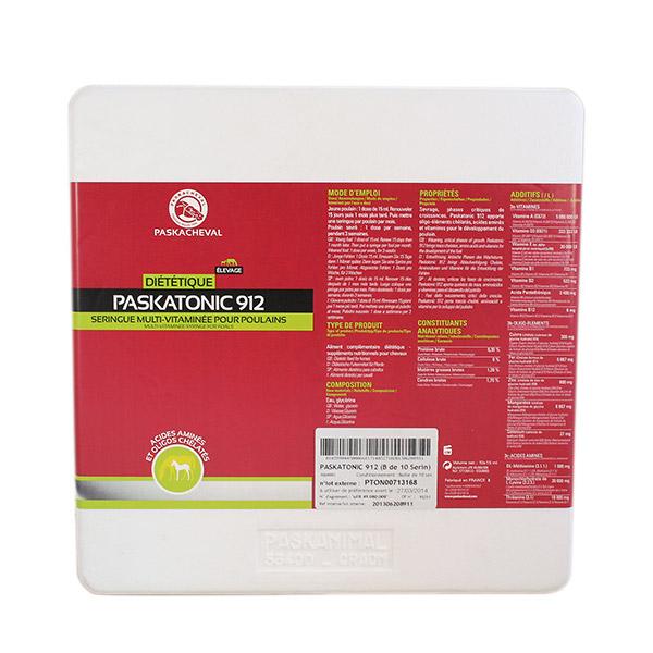 produit paskatonic 912 seringue multi-vitaminée pour poulains et foal